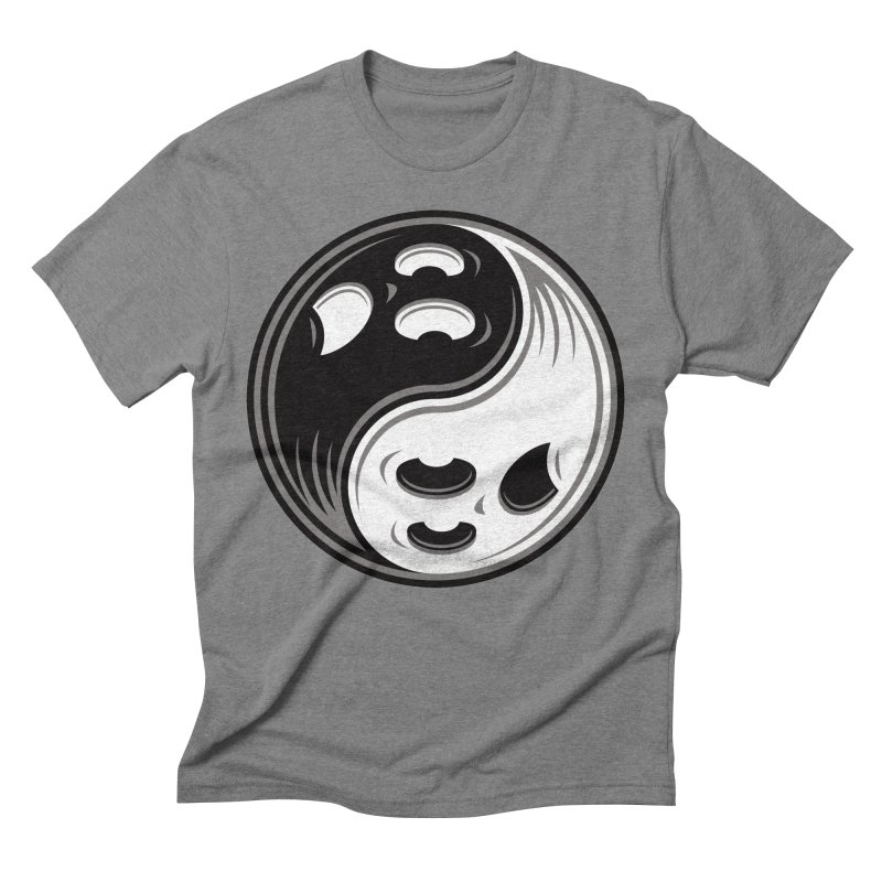 Ghost Yin Yang Black and White Men's T-Shirt by Fizzgig's Artist Shop