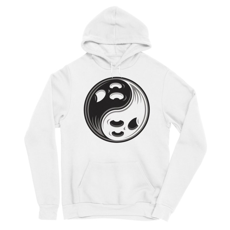 Ghost Yin Yang Black and White Men's Pullover Hoody by Fizzgig's Artist Shop
