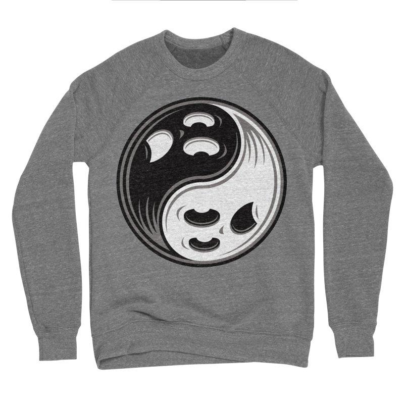 Ghost Yin Yang Black and White Men's Sweatshirt by Fizzgig's Artist Shop