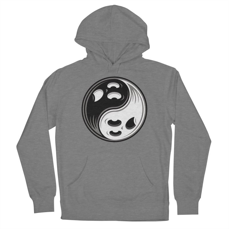 Ghost Yin Yang Black and White Women's Pullover Hoody by Fizzgig's Artist Shop