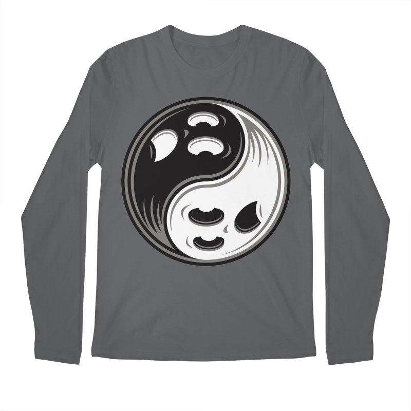 Ghost Yin Yang Black and White Men's Longsleeve T-Shirt by Fizzgig's Artist Shop