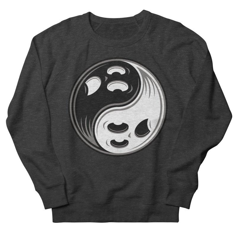 Ghost Yin Yang Black and White Women's Sweatshirt by Fizzgig's Artist Shop