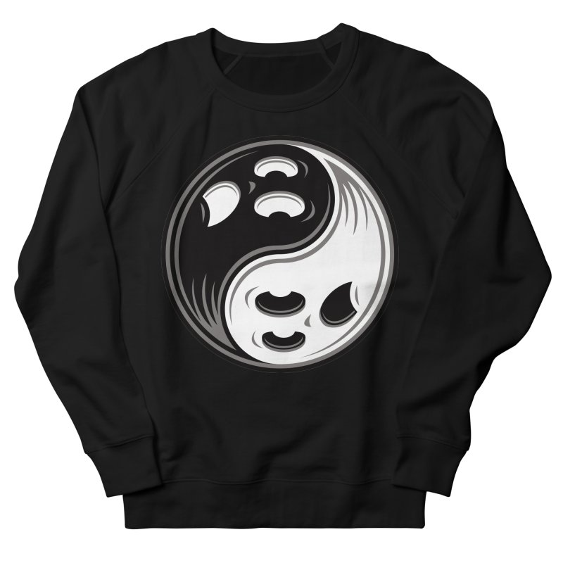 Ghost Yin Yang Black and White Men's Sweatshirt by Fizzgig's Artist Shop