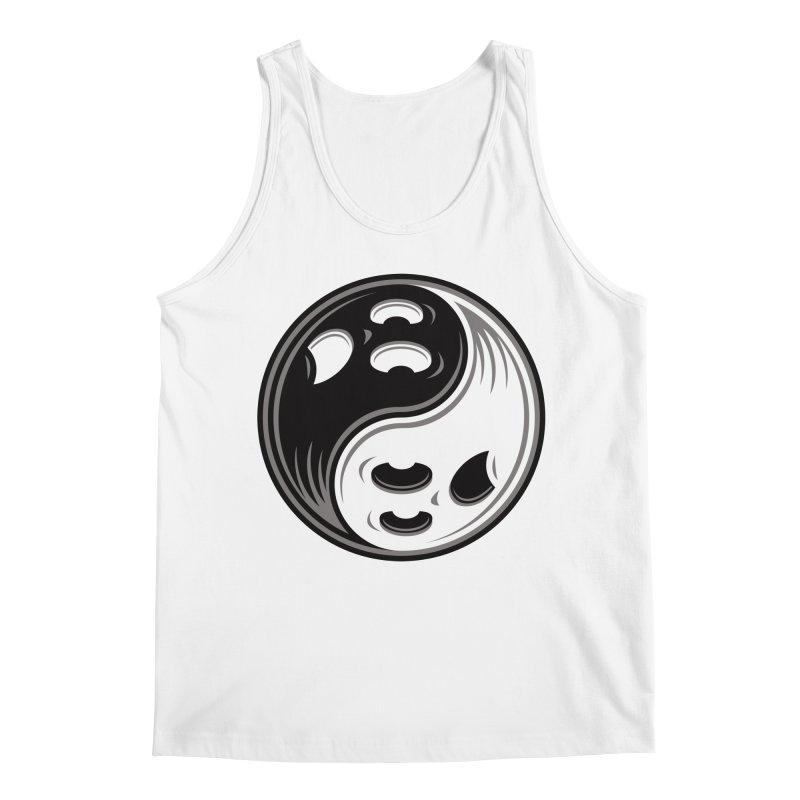 Ghost Yin Yang Black and White Men's Tank by Fizzgig's Artist Shop