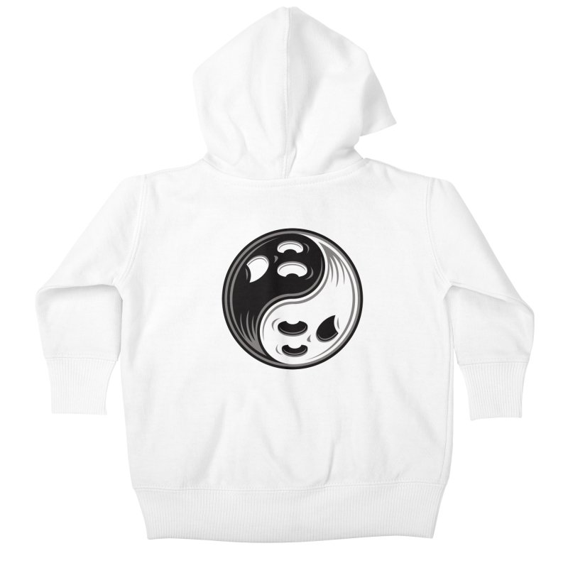 Ghost Yin Yang Black and White Kids Baby Zip-Up Hoody by Fizzgig's Artist Shop