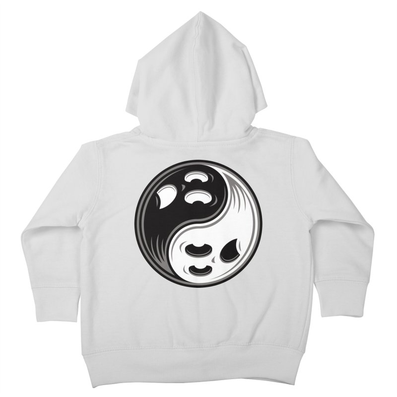 Ghost Yin Yang Black and White Kids Toddler Zip-Up Hoody by Fizzgig's Artist Shop