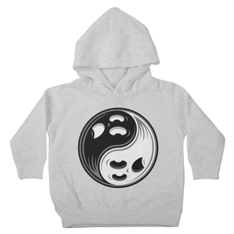 Ghost Yin Yang Black and White Kids Toddler Pullover Hoody by Fizzgig's Artist Shop