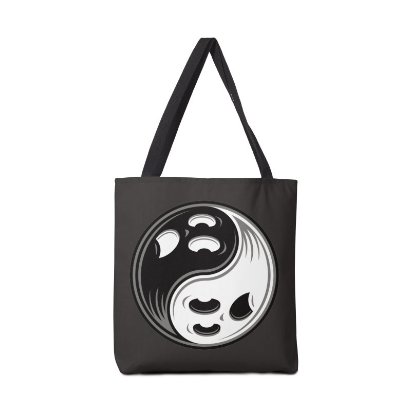 Ghost Yin Yang Black and White Accessories Bag by Fizzgig's Artist Shop