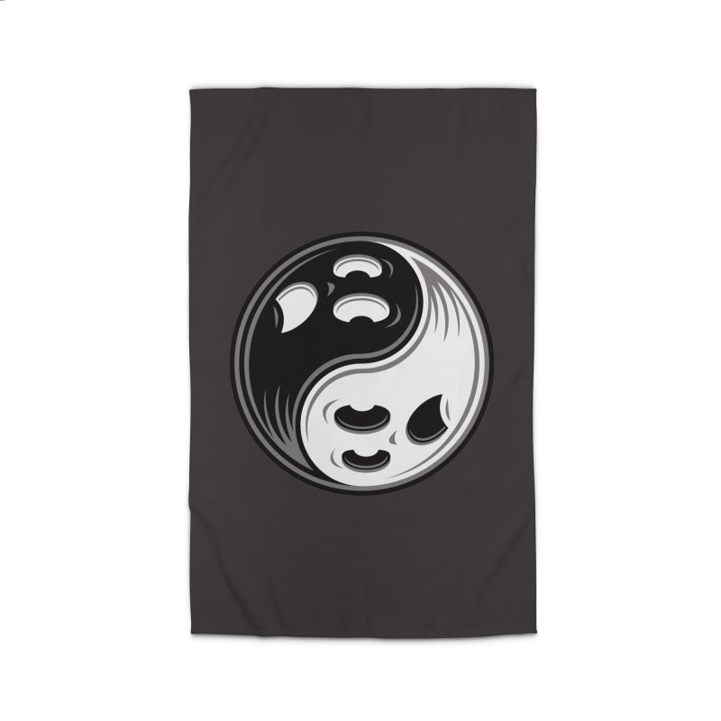 Ghost Yin Yang Black and White Home Rug by Fizzgig's Artist Shop