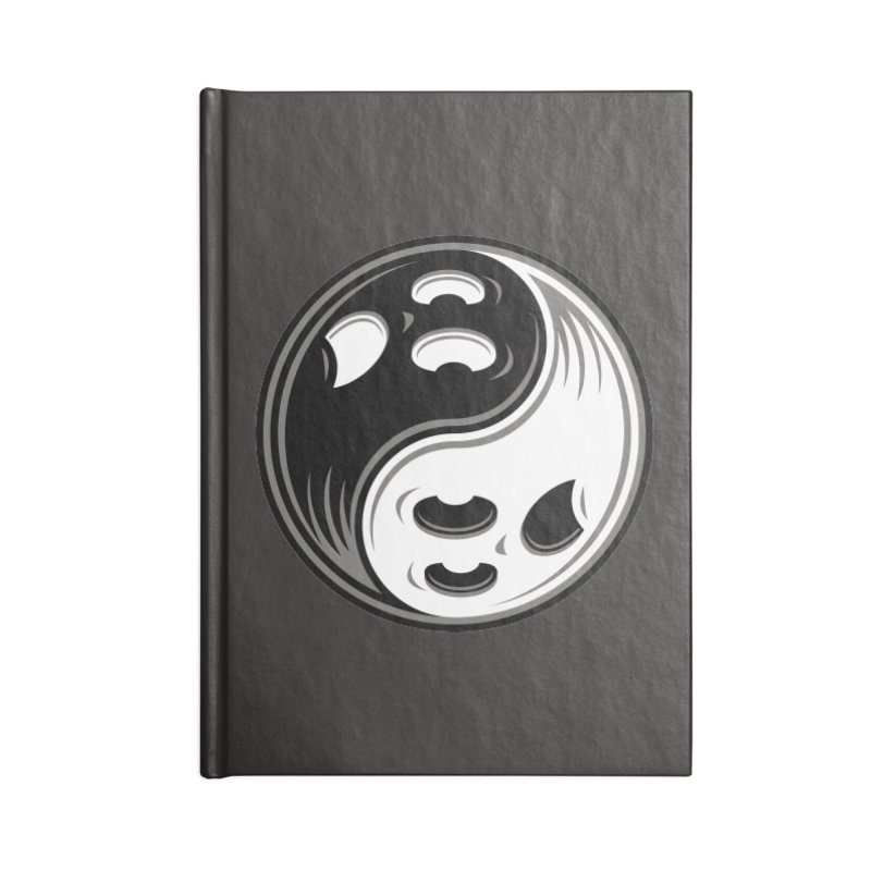 Ghost Yin Yang Black and White Accessories Notebook by Fizzgig's Artist Shop