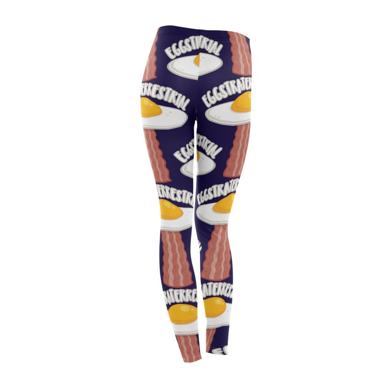 Eggstraterrestrial With Text Women's Bottoms by Fizzgig's Artist Shop