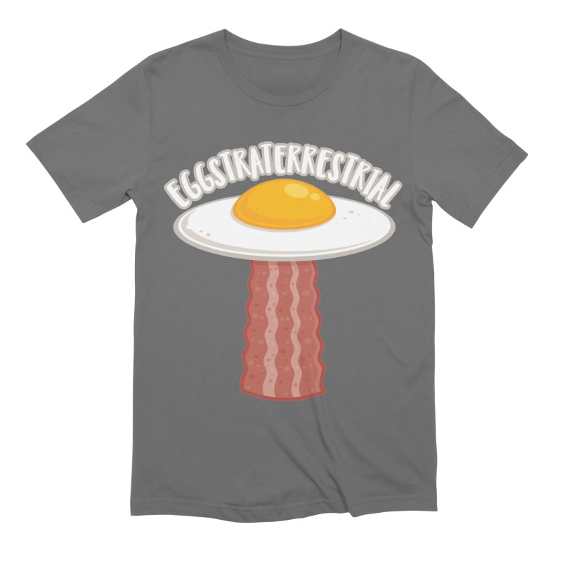 Eggstraterrestrial With Text Men's T-Shirt by Fizzgig's Artist Shop