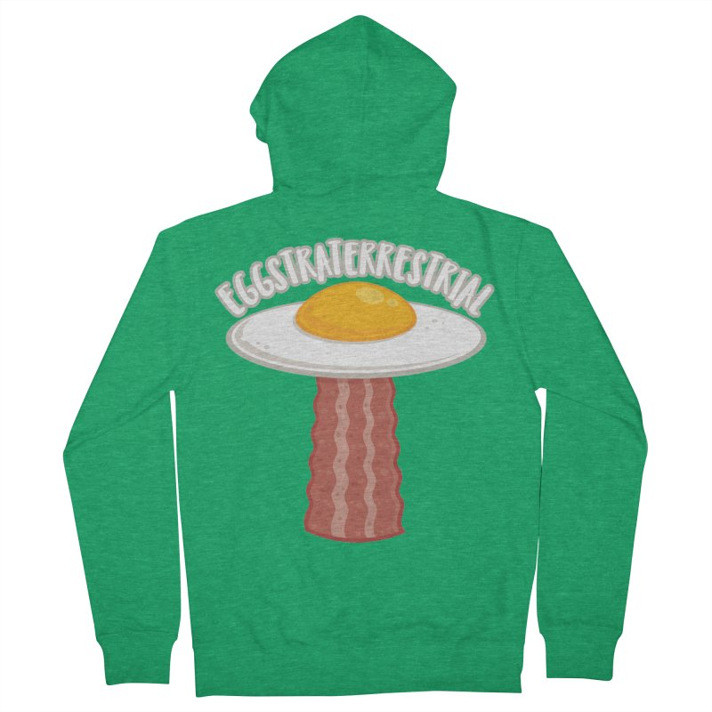 Eggstraterrestrial With Text Women's Zip-Up Hoody by Fizzgig's Artist Shop
