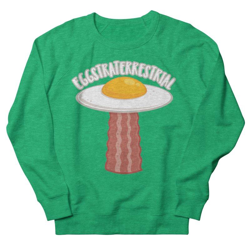 Eggstraterrestrial With Text Women's Sweatshirt by Fizzgig's Artist Shop