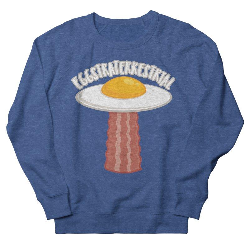 Eggstraterrestrial With Text Men's Sweatshirt by Fizzgig's Artist Shop