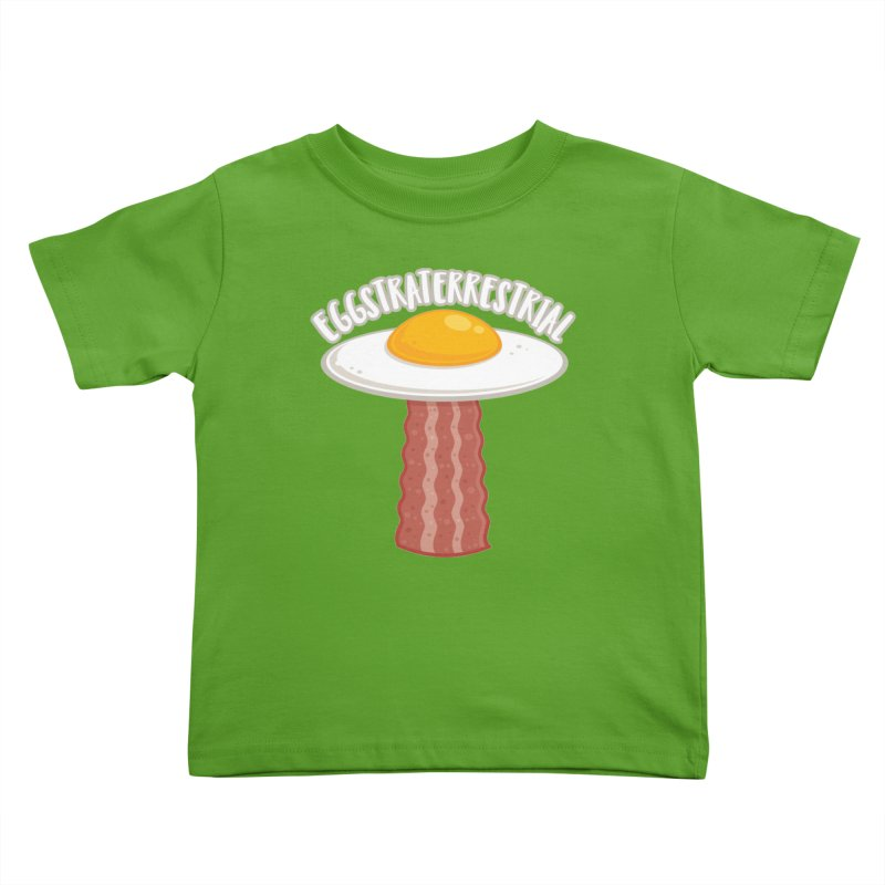 Eggstraterrestrial With Text Kids Toddler T-Shirt by Fizzgig's Artist Shop