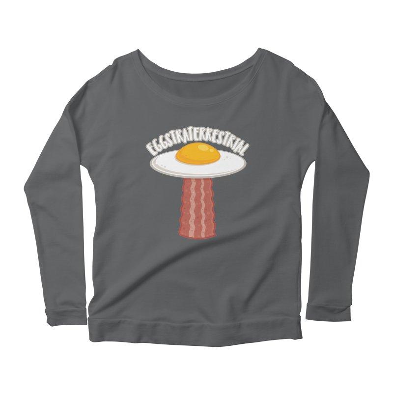 Eggstraterrestrial With Text Women's Longsleeve T-Shirt by Fizzgig's Artist Shop