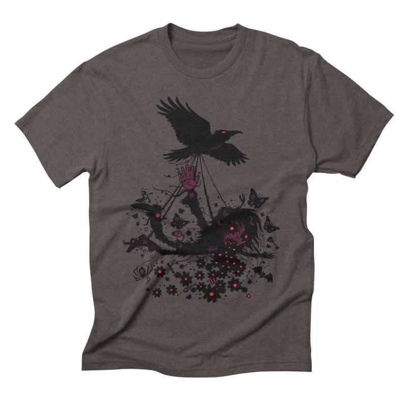 Strange Trip Through The Sky Men's Triblend T-shirt by Fizzgig's Artist Shop