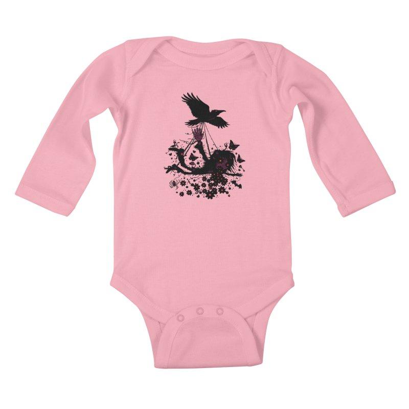 To The Sky Kids Baby Longsleeve Bodysuit by Fizzgig's Artist Shop