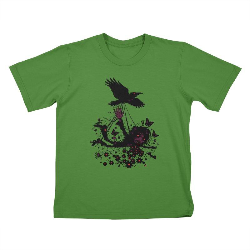 Strange Trip Through The Sky Kids T-Shirt by Fizzgig's Artist Shop