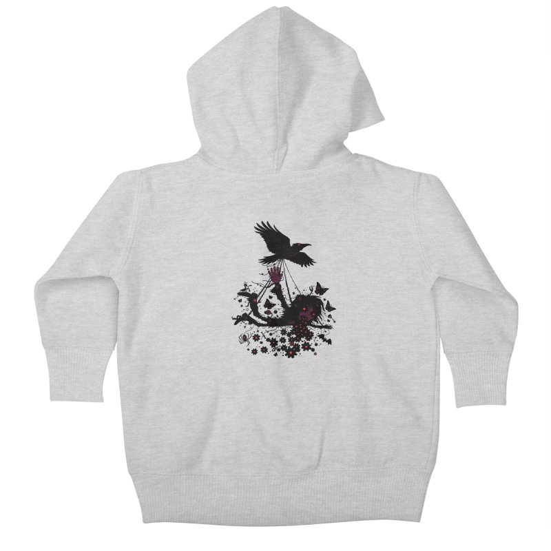Strange Trip Through The Sky Kids Baby Zip-Up Hoody by Fizzgig's Artist Shop