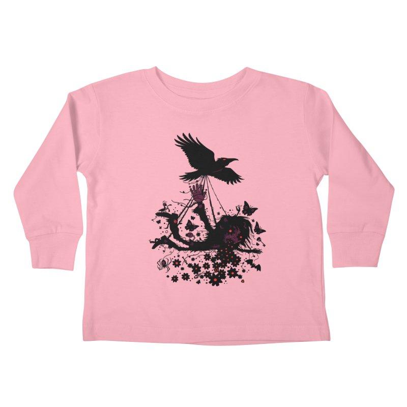 Strange Trip Through The Sky Kids Toddler Longsleeve T-Shirt by Fizzgig's Artist Shop