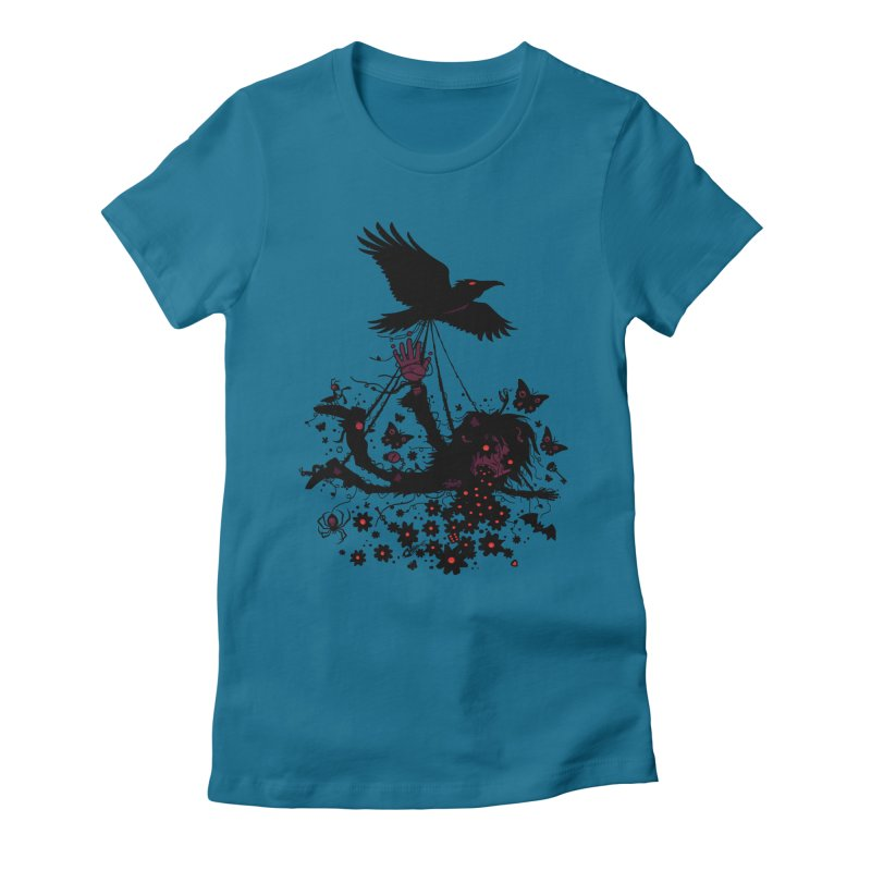 To The Sky Women's Fitted T-Shirt by Fizzgig's Artist Shop