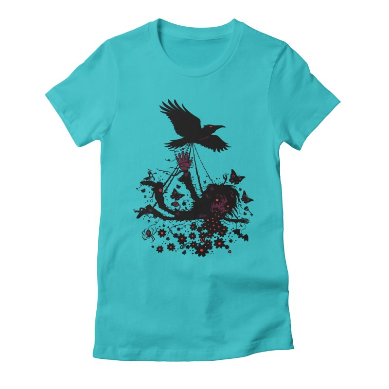 Strange Trip Through The Sky Women's Fitted T-Shirt by Fizzgig's Artist Shop