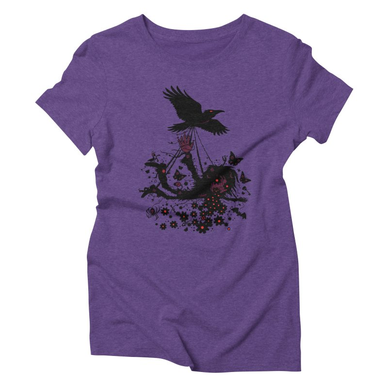 To The Sky Women's Triblend T-shirt by Fizzgig's Artist Shop