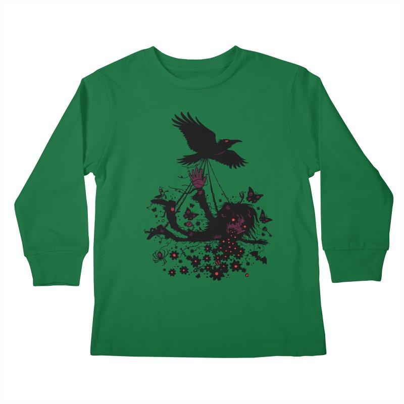 To The Sky Kids Longsleeve T-Shirt by Fizzgig's Artist Shop
