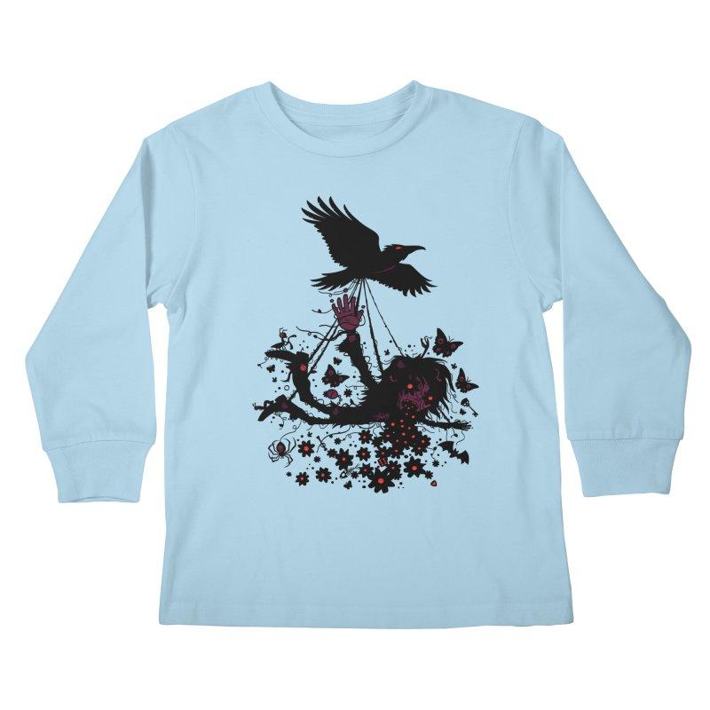 Strange Trip Through The Sky Kids Longsleeve T-Shirt by Fizzgig's Artist Shop