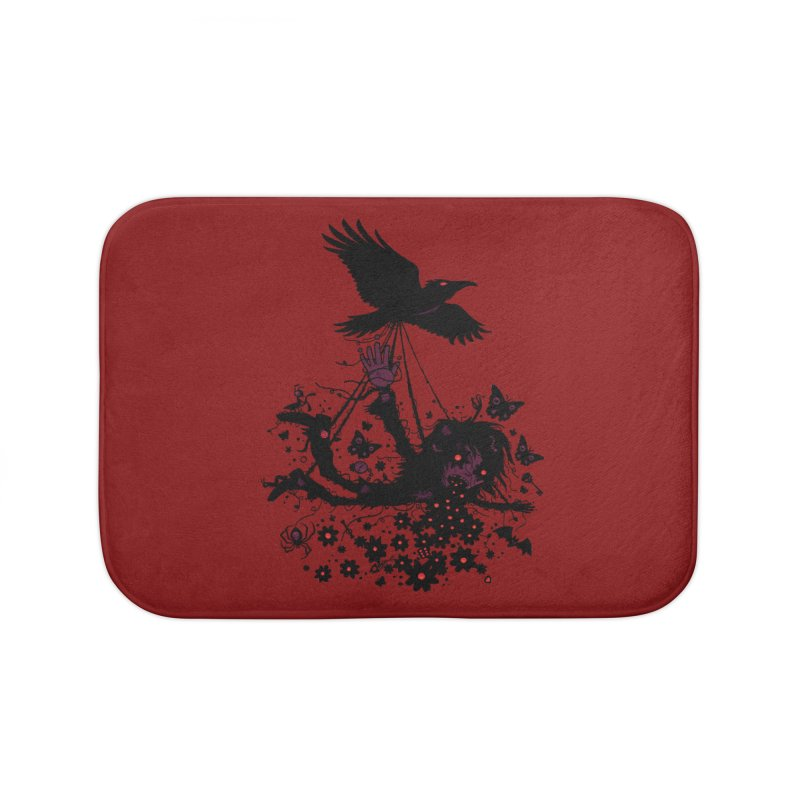 Strange Trip Through The Sky Home Bath Mat by Fizzgig's Artist Shop
