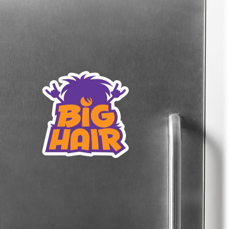 Big Hair Band Logo Accessories Magnet by Fizzgig's Artist Shop
