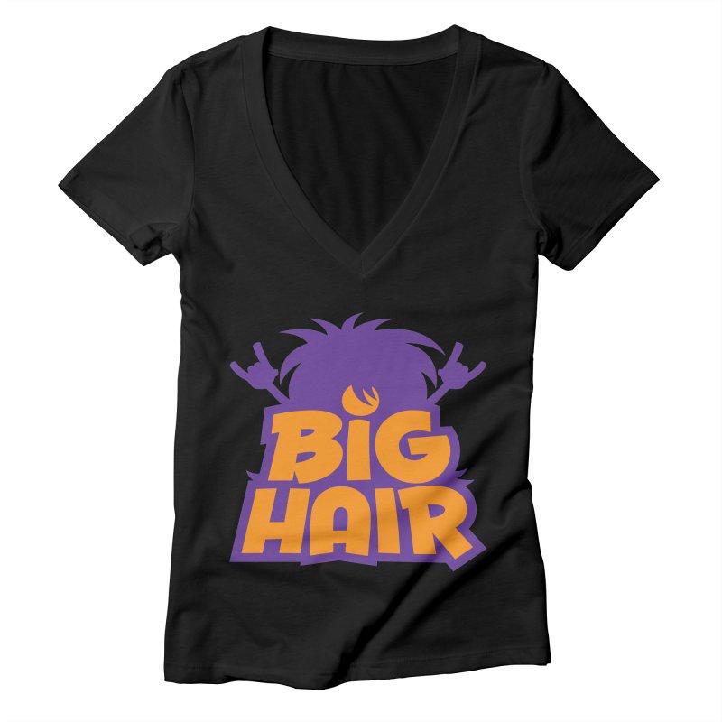 Big Hair Band Logo Women's V-Neck by Fizzgig's Artist Shop