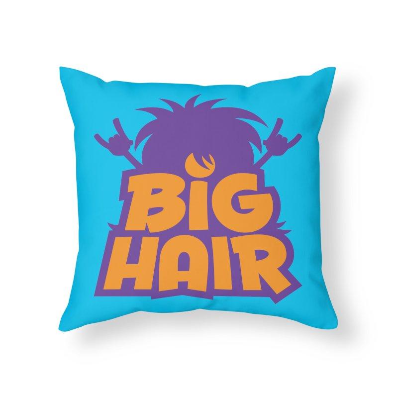 Big Hair Band Logo Home Throw Pillow by Fizzgig's Artist Shop