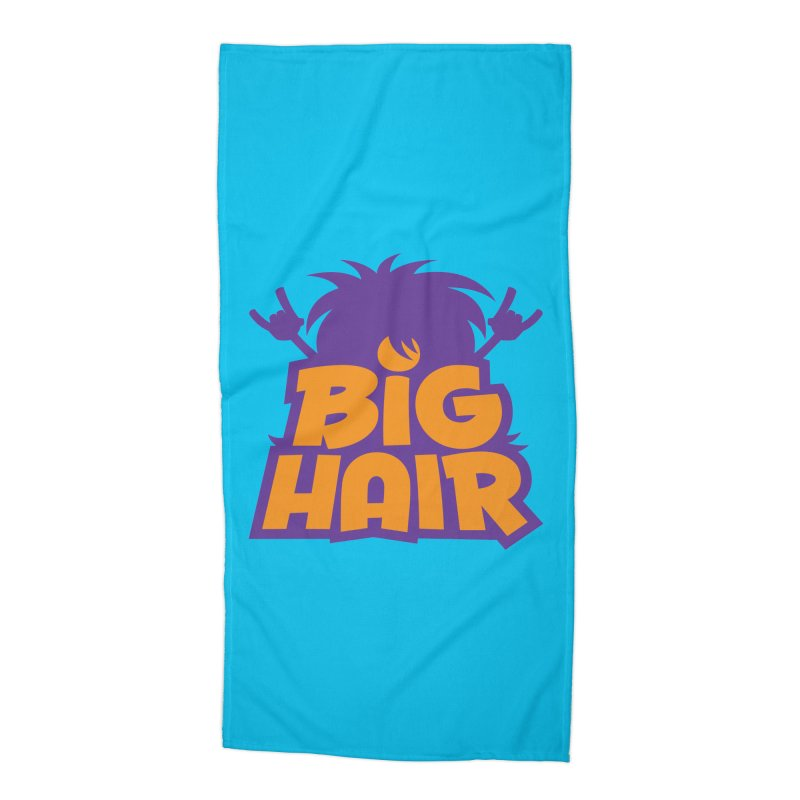 Big Hair Band Logo Accessories Beach Towel by Fizzgig's Artist Shop
