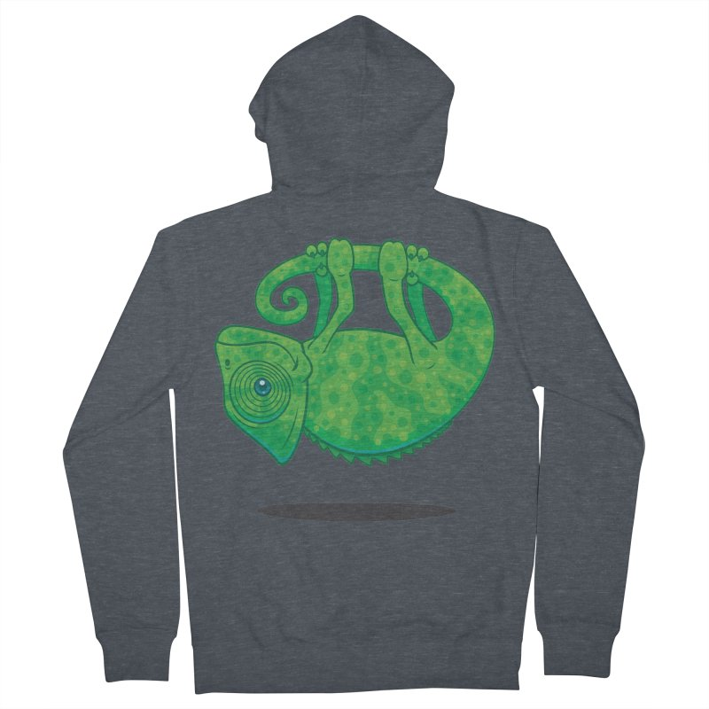 Magical Chameleon Men's Zip-Up Hoody by Fizzgig's Artist Shop