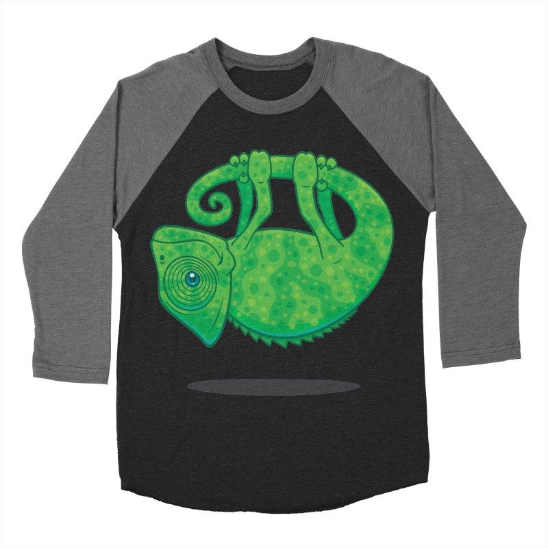 Magical Chameleon Women's Baseball Triblend T-Shirt by Fizzgig's Artist Shop