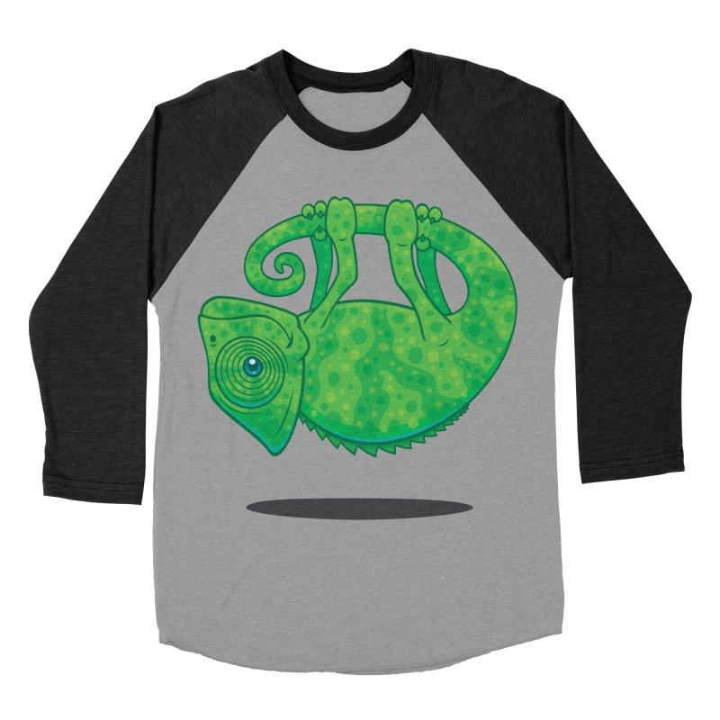 Magical Chameleon Men's Baseball Triblend T-Shirt by Fizzgig's Artist Shop
