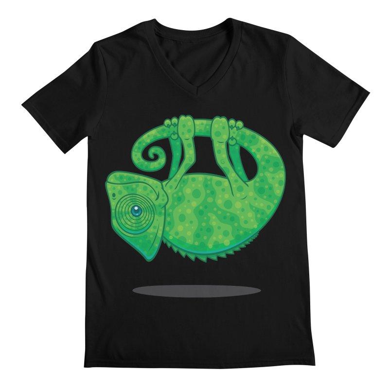 Magical Chameleon Men's V-Neck by Fizzgig's Artist Shop