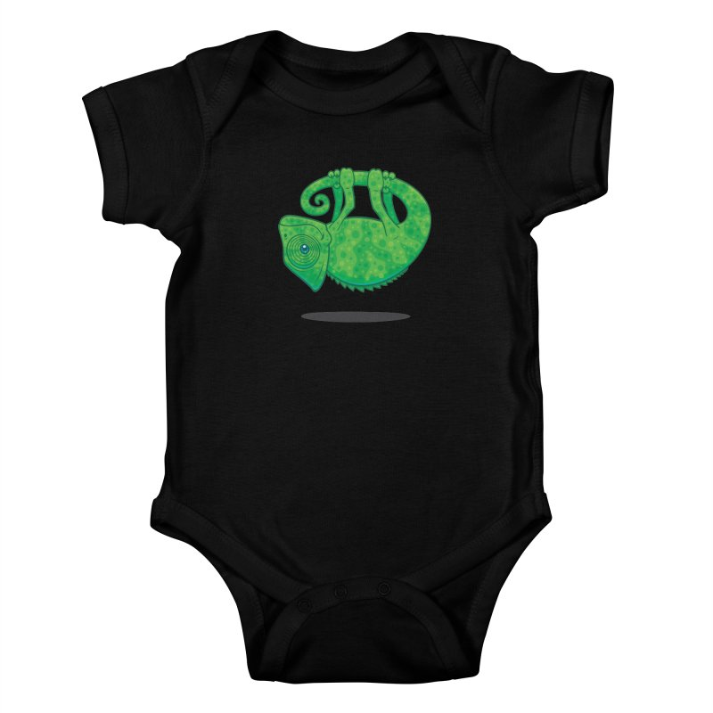 Magical Chameleon Kids Baby Bodysuit by Fizzgig's Artist Shop