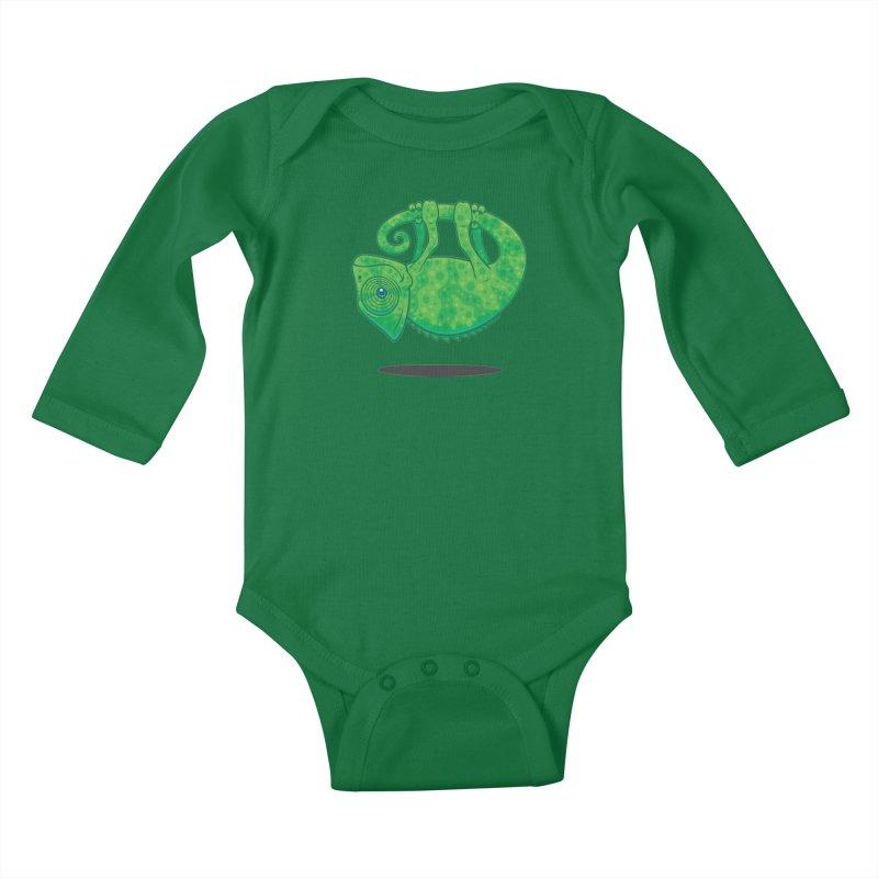 Magical Chameleon Kids Baby Longsleeve Bodysuit by Fizzgig's Artist Shop