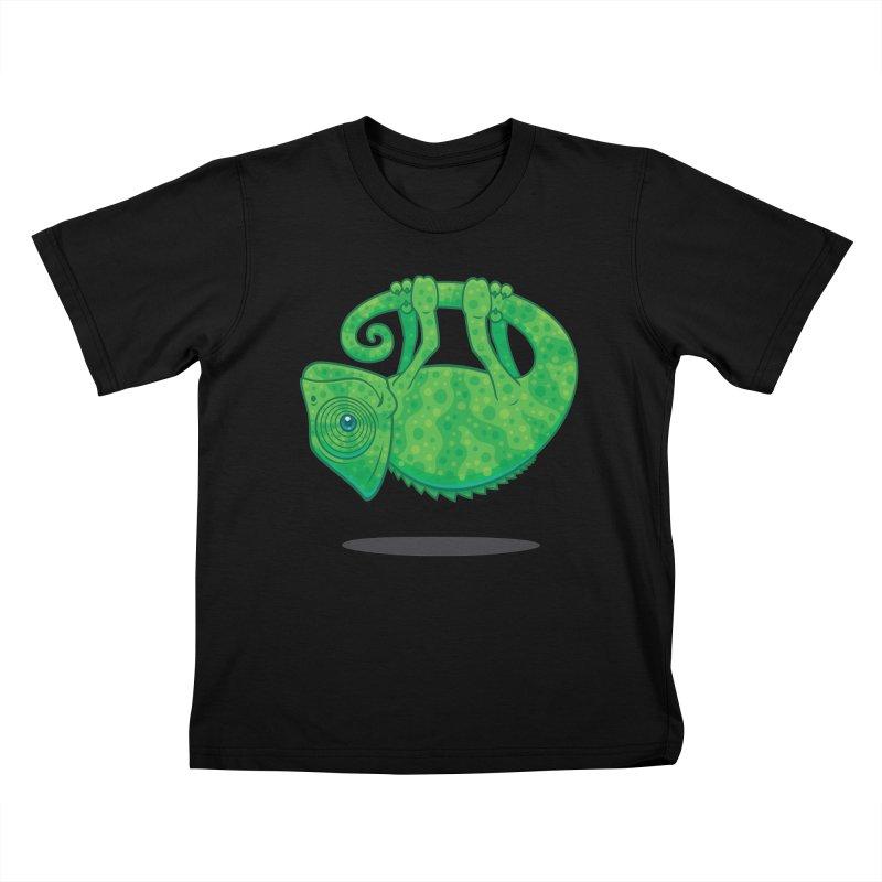 Magical Chameleon Kids T-shirt by Fizzgig's Artist Shop