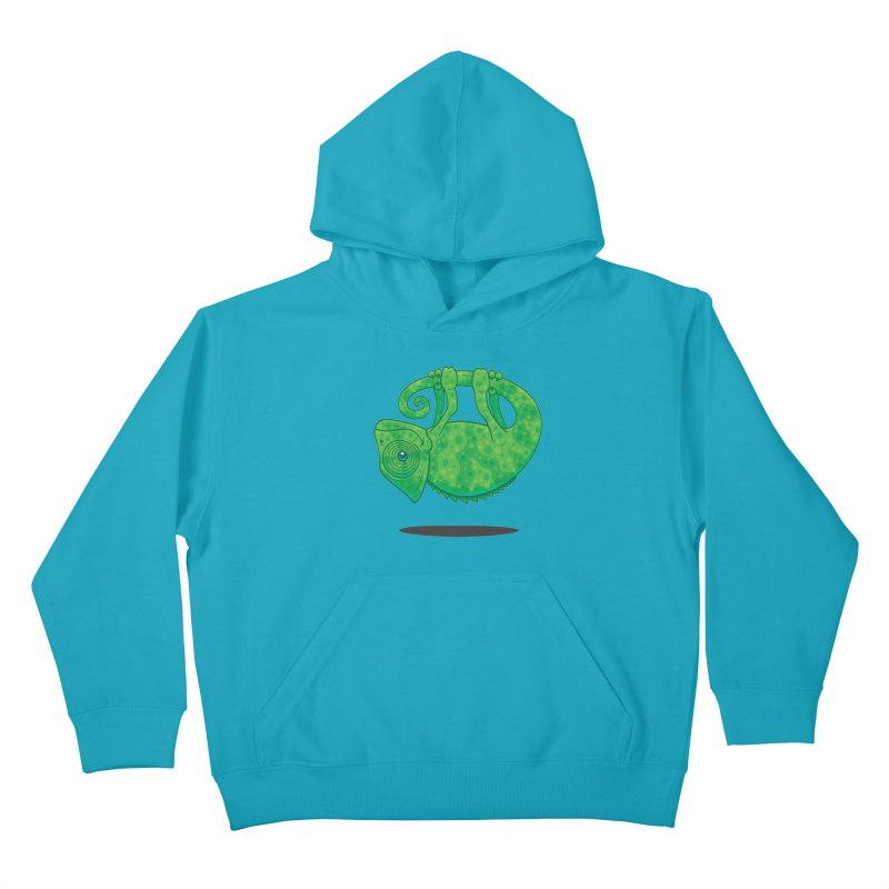 Magical Chameleon Kids Pullover Hoody by Fizzgig's Artist Shop