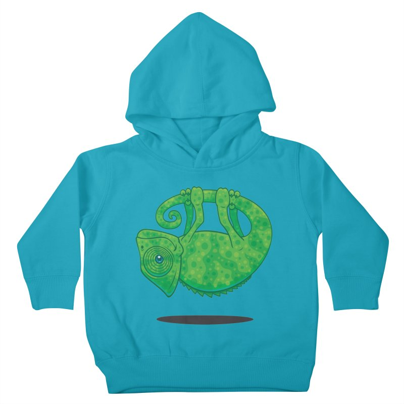 Magical Chameleon Kids Toddler Pullover Hoody by Fizzgig's Artist Shop