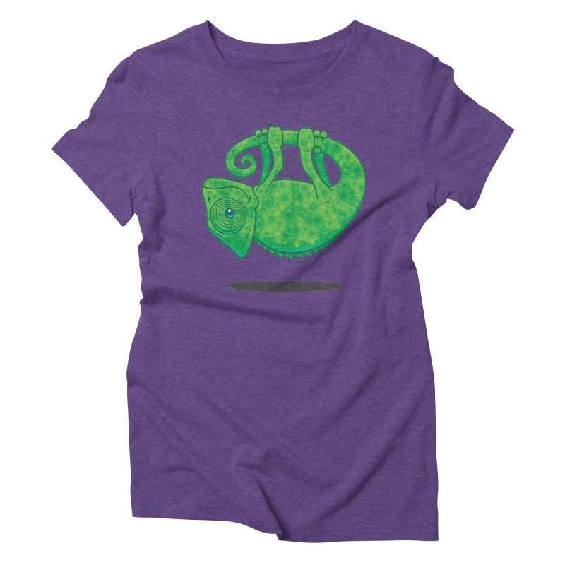 Magical Chameleon Women's Triblend T-shirt by Fizzgig's Artist Shop