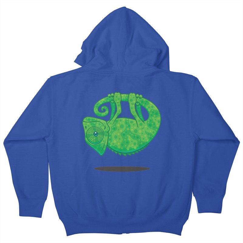Magical Chameleon Kids Zip-Up Hoody by Fizzgig's Artist Shop