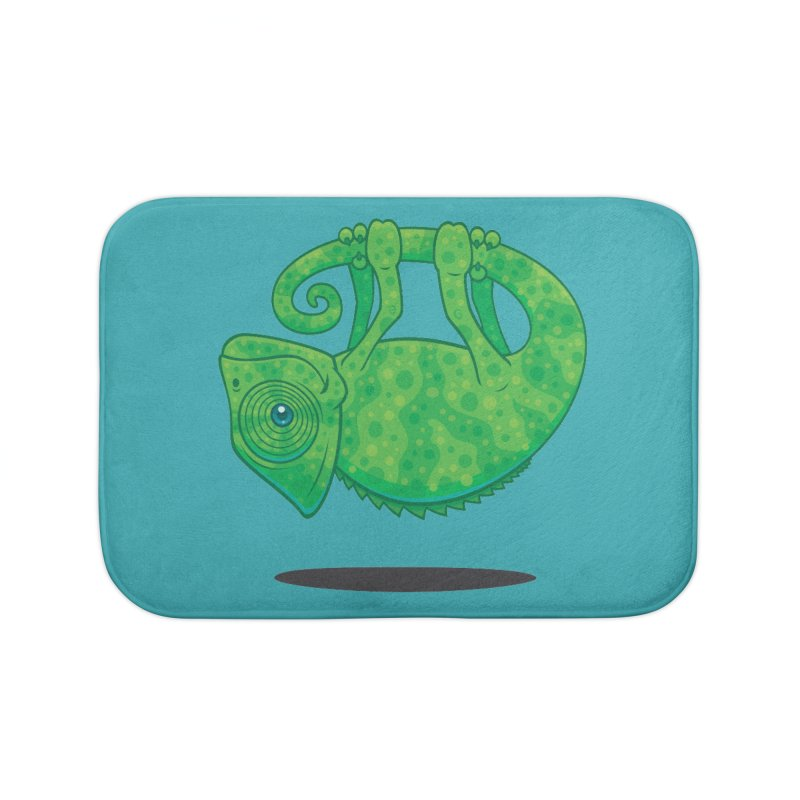 Magical Chameleon Home Bath Mat by Fizzgig's Artist Shop