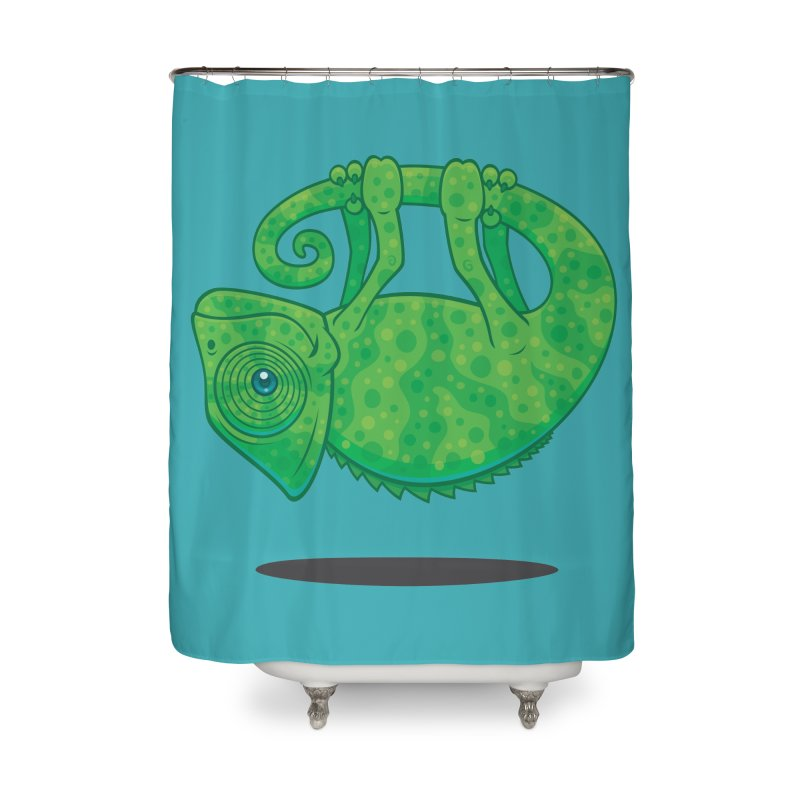 Magical Chameleon Home Shower Curtain by Fizzgig's Artist Shop