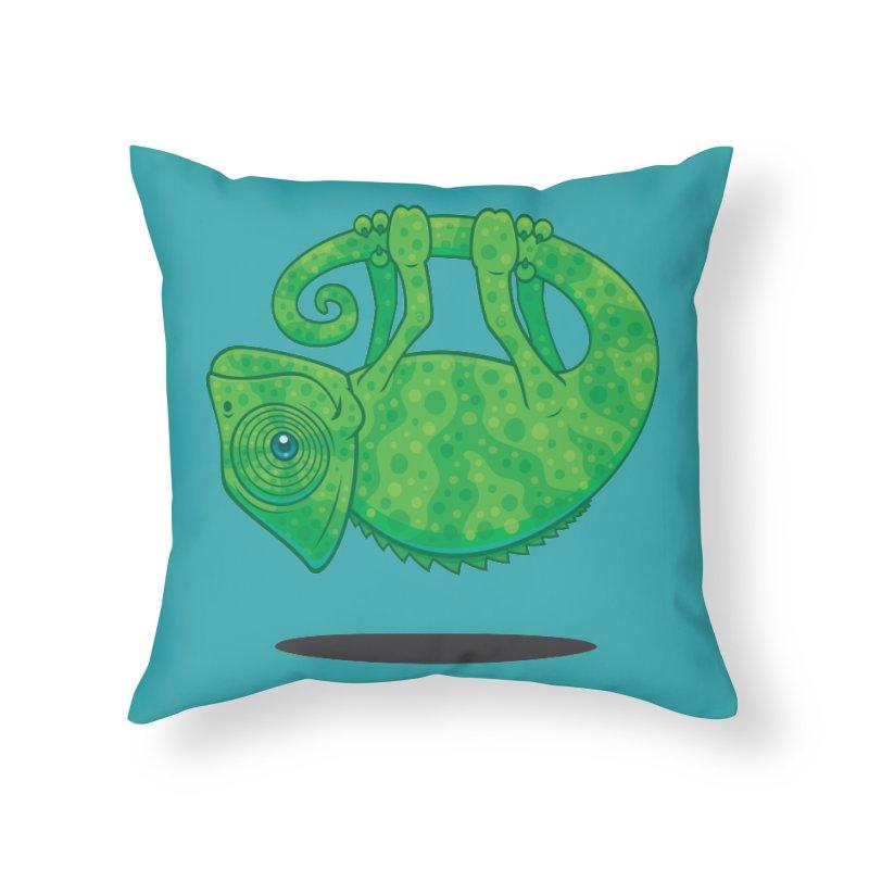 Magical Chameleon Home Throw Pillow by Fizzgig's Artist Shop